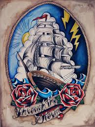 Loose Lips Sink Ships Tattoo by Ship Custom Design Commissioned For Death Fresh Shirts Old