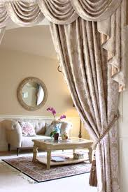 Waterfall Valance Curtain Set by Picture Of Silver Pearl Dahlia Half Overlapping Style Elegant