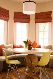 Eat In Kitchen Booth Ideas by Breakfast Nook Ideas Dining Room Transitional With Coral Accent