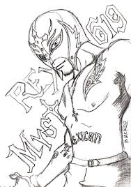 Printable Wwe Coloring Pages Rey Mysterio 41902