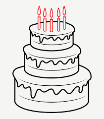 Birthday Cakes To Draw Drawing A Cartoon How To Draw A