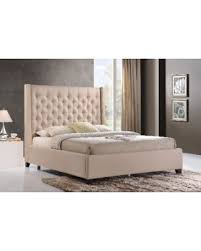 Deals on LuXeo Huntington King Size Tufted Upholstered Bed in Sand