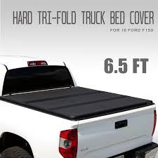 Best F150 6.5ft Hard Top Tri-Fold Tonneau Cover, Truck Bed Cover