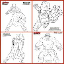 Marvel Avengers Coloring Pages For The Kids