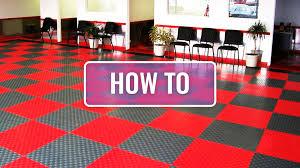 how to install grid loc garage tiles by flooringinc
