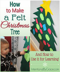 How To Make A Felt Christmas Tree And Use It For Learning