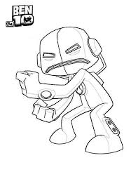 Ben 10 Echo From Alien Force Coloring Page