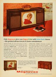 Magnavox Record Player Cabinet Astro Sonic by Vintage Advertising Art Tagged