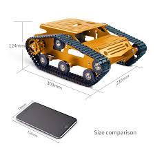 Amazoncom XiaoR Geek Smart Robot Car Tank Chassis Kit Aluminum