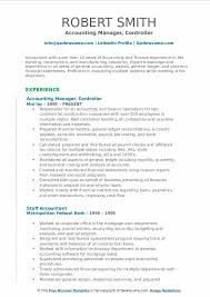 Accounting Manager Controller Resume Example