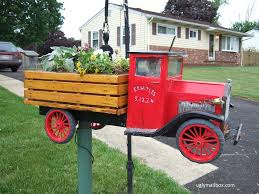 Vintage Toy Truck Mailbox With Flower Planter