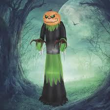 Halloween Chasing Ghosts Projector Light by 5ft Inflatable Pumpkin Reaper U2014halloween Yard Art Www Kotulas