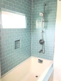 black glass subway tile backsplash bathrooms design blue porcelain