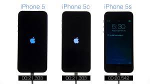 Boot Speed Test iPhone 5 vs iPhone 5c vs iPhone 5s