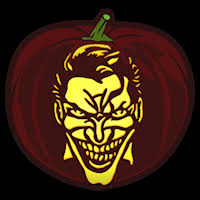 The Joker Pumpkin Stencil by Joker Co Stoneykins