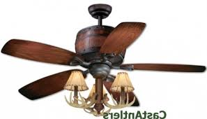 rustic lodge ceiling fans antler ceiling fans castantlers within