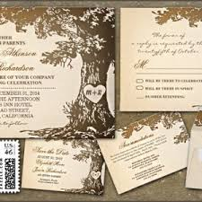 Tree Wedding Rustic Invitations