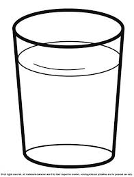 Drink A Glass Of Water Coloring Pages For Kids Printable Drinks