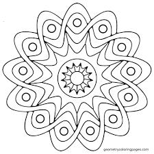 Mandala Coloring Pages Easy Printable Katibura Simple Children Book