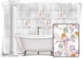 fliesen aufkleber fliesen bild kachel struktur blumen pastell farben sticker bad wc küche