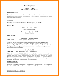 7 Social Work Resume Example