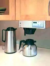 Under Counter Coffee Maker For Rv Space Saving Makers Black Cabinet