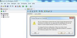 Oracle SQL Developer Database Diff Requires Change Management Pack Be Licensed