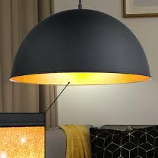 büromöbel runde pendelleuchte gold schwarz metall hängele