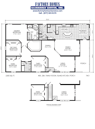 Fleetwood Triple Wide Mobile Home Floor Plans by Stylish Nice 4 Bedroom Mobile Homes Triple Wide 4 Bedroom