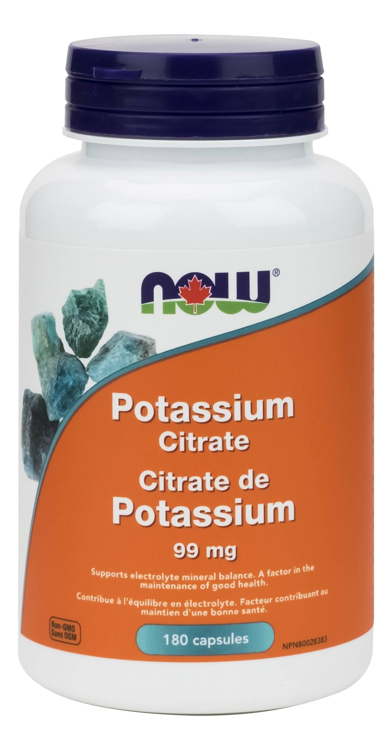 Now Potassium Citrate - Supports Electrolyte Mineral Balance - 180 Cap