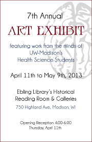 7th Annual Health Sciences Students Art Exhibit At Ebling Library