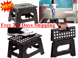 Cosco Retro Chair With Step Stool Black by Acko 16 Inches Super Strong Folding Step Stool For Adults And Kids