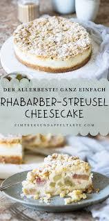 rhabarber cheesecake mit streuseln zimtkeks und apfeltarte
