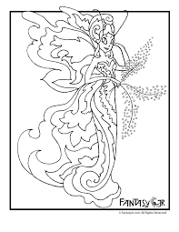 Printable Coloring Pages Fairies Adults