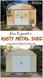 Metal Storage Shed Doors by How To Paint A Rusty Metal Shed Domestic Imperfection