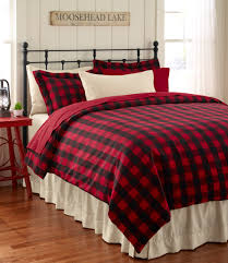 Ruff Hewn Bedding by Ultrasoft Flannel Comforter Cover Buffalo Plaid Bedding Free