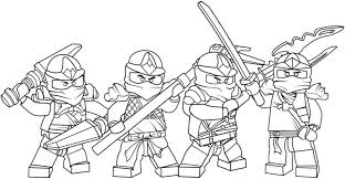 Lego Ninjago Coloring Pages Free Printable Color Picture