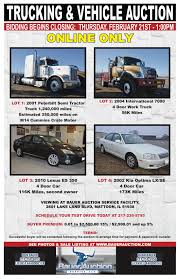 100 Trucking Online Thursday Feb 21st Vehicle Only Auction Bauer