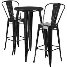 Flash Furniture 24'' Round Black Metal Indoor-Outdoor Bar Table Set With 2  Cafe Stools Highchairs Booster Seats Eddie Bauer Classic Wood High Double Lounger Patio Fniture Patios Home Decorating Amusing Wooden White Round Dark Sets Black Foldable Ding Chairs 2 18 Choose A Folding Table 2jpg Side Finest Wall Posted In Chair Ashley Floral Accent That Go Winsome Old Simmons Recliner With Attractive Colors Replacement Canopy For Arlington Swing True Navy Garden Winds Padded Gray Metal Folding Chair With 1 Kitchen Small End Tables Beautiful Armchair Western Style Interesting Decor Ideas Editorialinkus