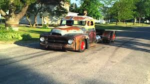 Get A Look At This Insane Rat Rod Old School Diesel Mini Semi Truck!