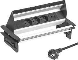 elbe el4403u versenkbare tischsteckdose mit 2xusb steckdosenleiste mit usb buchse einbausteckdose aus alulegierung mehrfachsteckdose