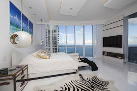 Stylish Bedroom In High Rise Apartment With Ocean View