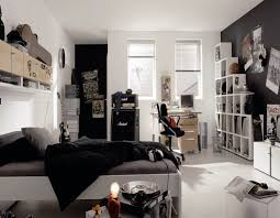 BedroomStunning Bedroom Decor For Young Man With Excellent Black And White Ideas Theme