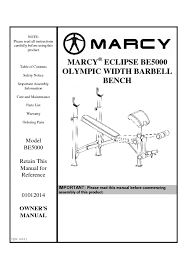 Marcy Ct4000 Roman Chair by 14mebe5000 Marcy Eclipse Olympic Width Barbell Bench Be5000 User Manual 1 Pdf Jpg