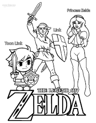Lovely Zelda Coloring Pages Image 7
