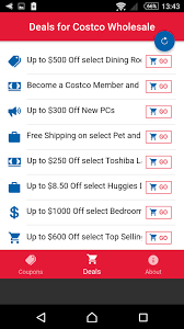 Coupon Codes And Promo Codes For Costco For Android - APK Download Costco Coupon August September 2018 Cheap Flights And Hotel Deals Tires Discount Coupons Book March Pdf Simply Be Code Deals Promo Codes Daily Updated 20190313 Redflagdeals Coupon Traffic School 101 New Member Best Lease On Luxury Cars Membership June Panda Express December Photo Center Active Code 2019 90 Off Mattress American Giant Clothing November Corner Bakery Printable Ontario Play Asia