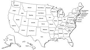 United State Map Outline Of States