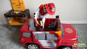 Unboxing Paw Patrol Marshall Fire Truck Ride On Car Battery Powered ... Sh Toys Japan Battery Operated Fire Engine Amazoncom Truck Toy Rescue With Shooting Water Lights And Buy Team Large With And Sounds Bump N Go Power Dept Sold Model Car Marklin 19034 Tin Clockwork C1998 Kid Motorz 6v Red Games Trax Electric Rideon 2 Seater Kids Ride On Cars Elegant 12v Hummer Hx E Unboxing Paw Patrol Marshall Powered