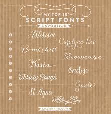 Favorite Top 10 Script Fonts
