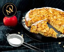 schneller und saftiger gebackener apfel mandel kuchen torte